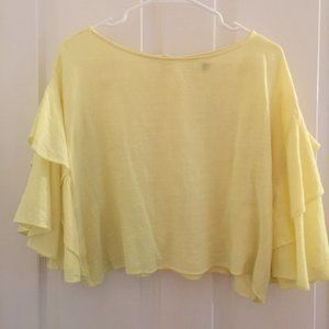 Anthropologie Lilka gorgeous flutter sleeve blouse